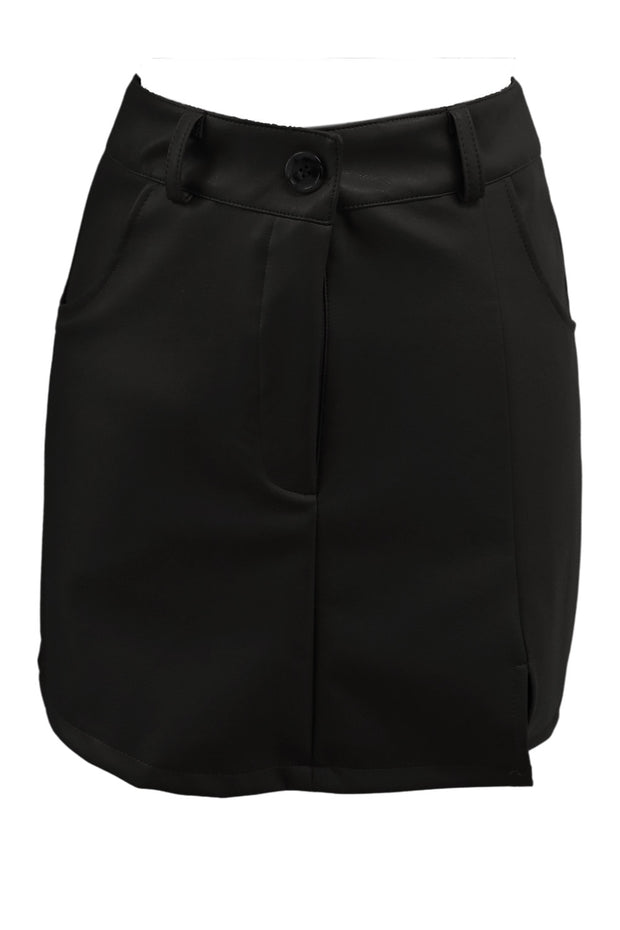 storets.com Nadia Side Vent Pleather Skirt