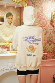[LETTER FROM MOON] Holiday Angels Hoodie T-shirts in Cream