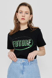 [ROCKETXLUNCH] R Future Spangle T-Shirt