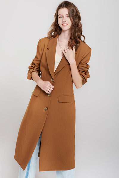 storets.com Boe Long Caramel Coat