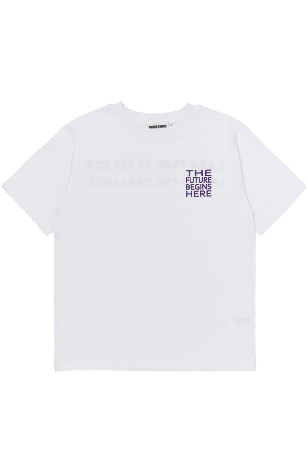[ROCKETXLUNCH] R Back Crack Logo T-Shirt