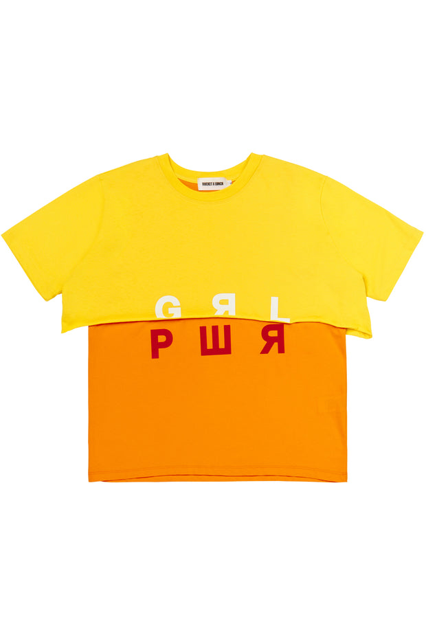 [ROCKETXLUNCH] R Grl Pwr Layered T-Shirt