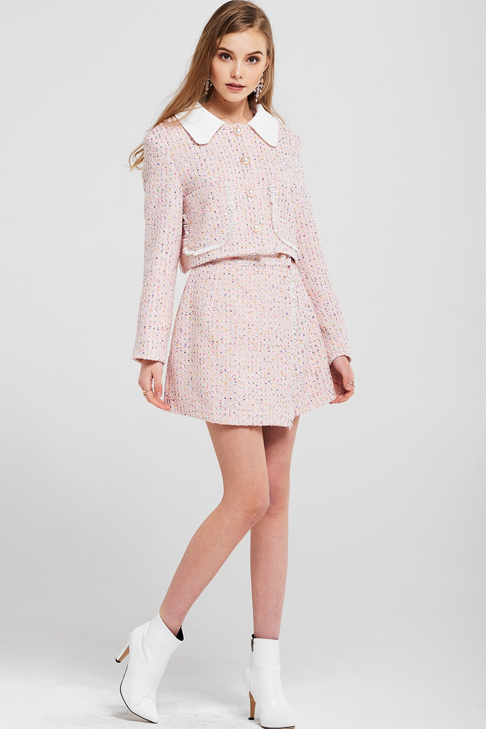 Joan Cropped Tweed Jacket