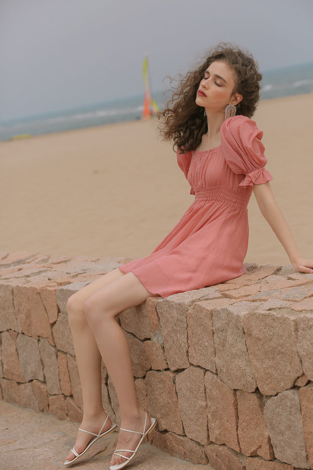 [Sincethen] Pinky Minky Short Dress
