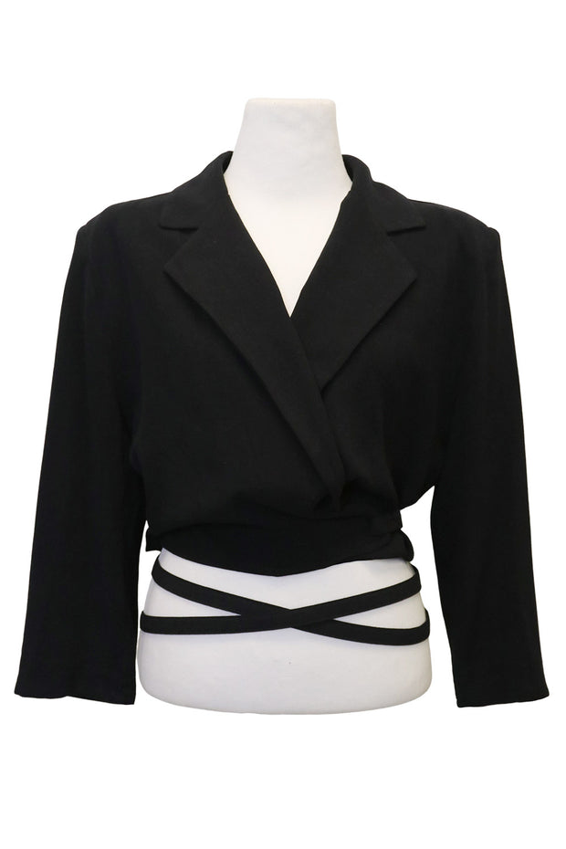 storets.com Laurel Wrap Around Cropped Jacket
