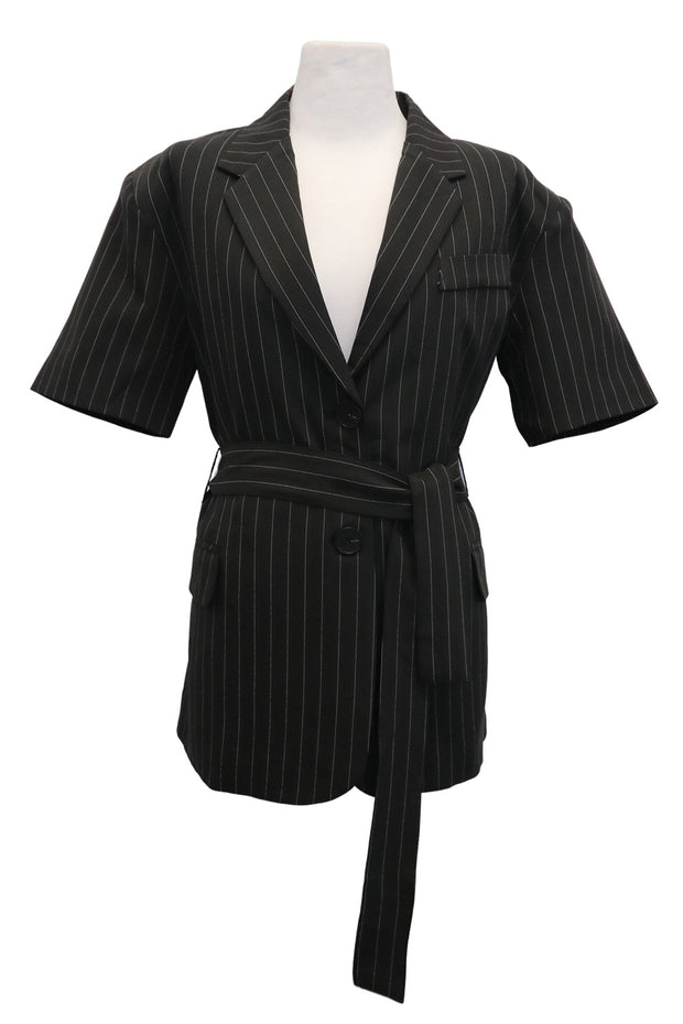 storets.com Virginia Pin Striped Tie Jacket