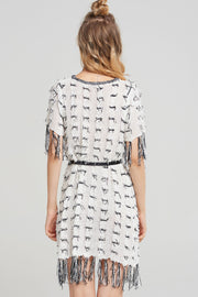 storets.com Torie Frayed Tweed Dress