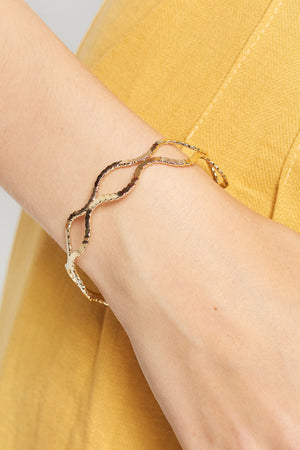 Double Helix Cuff Bracelet-2 Colors
