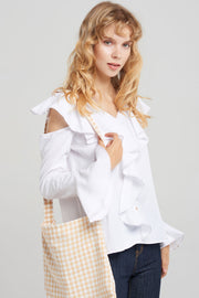 Gingham Check Cross Bag-4 Colors