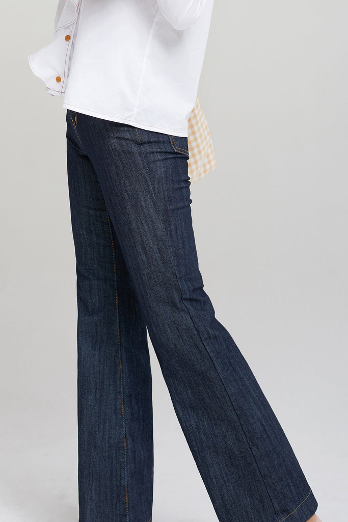 Shanon Bootcut Jeans-Navy
