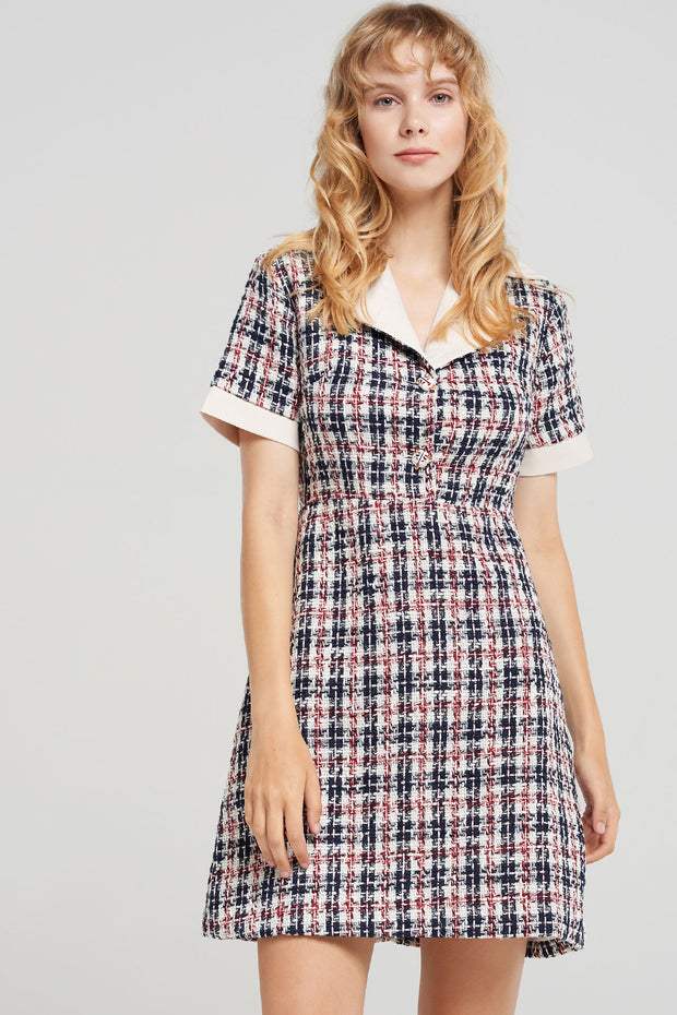 storets.com Maisy Collar Tweed Dress