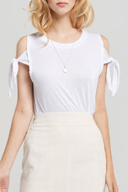 Basic Cold Shoulder T-Shirt