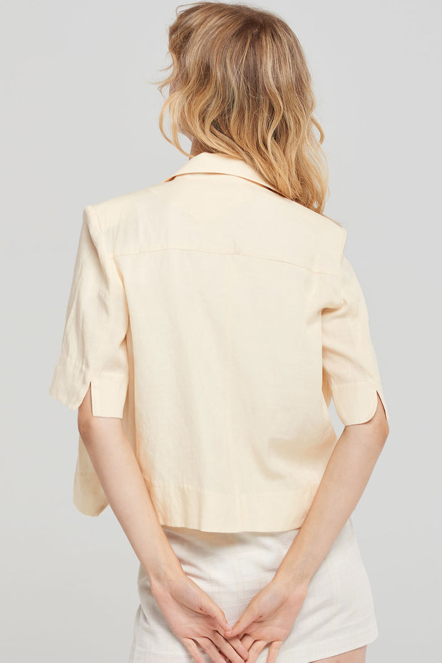 Fiona Cropped Linen Jacket-2 Colors
