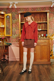 [LETTER FROM MOON] Sailor Big Collar Blouse in Brick