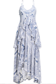 [Sincethen] White Ethnic Patten Dress