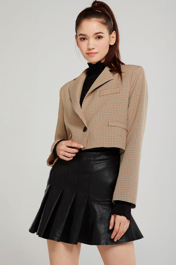 Allison Plaid Cropped Jacket