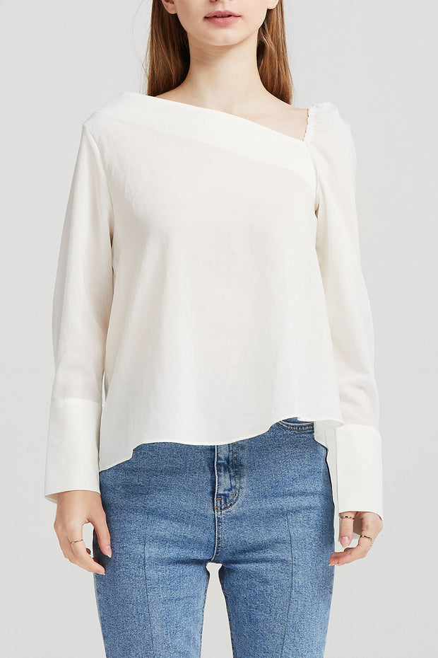 Kate Asymmetric Neck Blouse