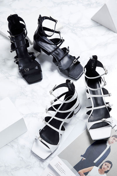Gladiator Heeled Sandals by STORETS