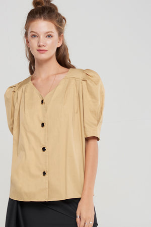 Ada Puffed Button Down Blouse