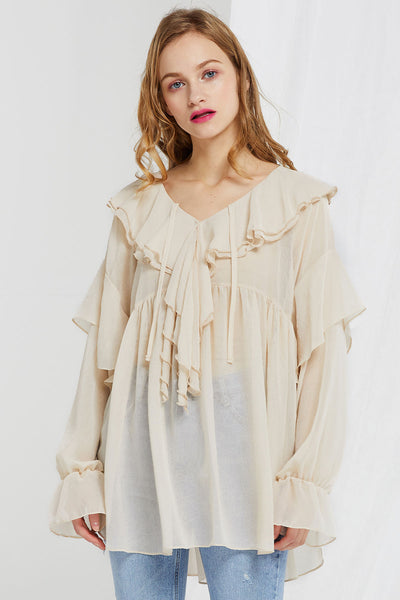 Aisha Tiered Ruffle Tunic
