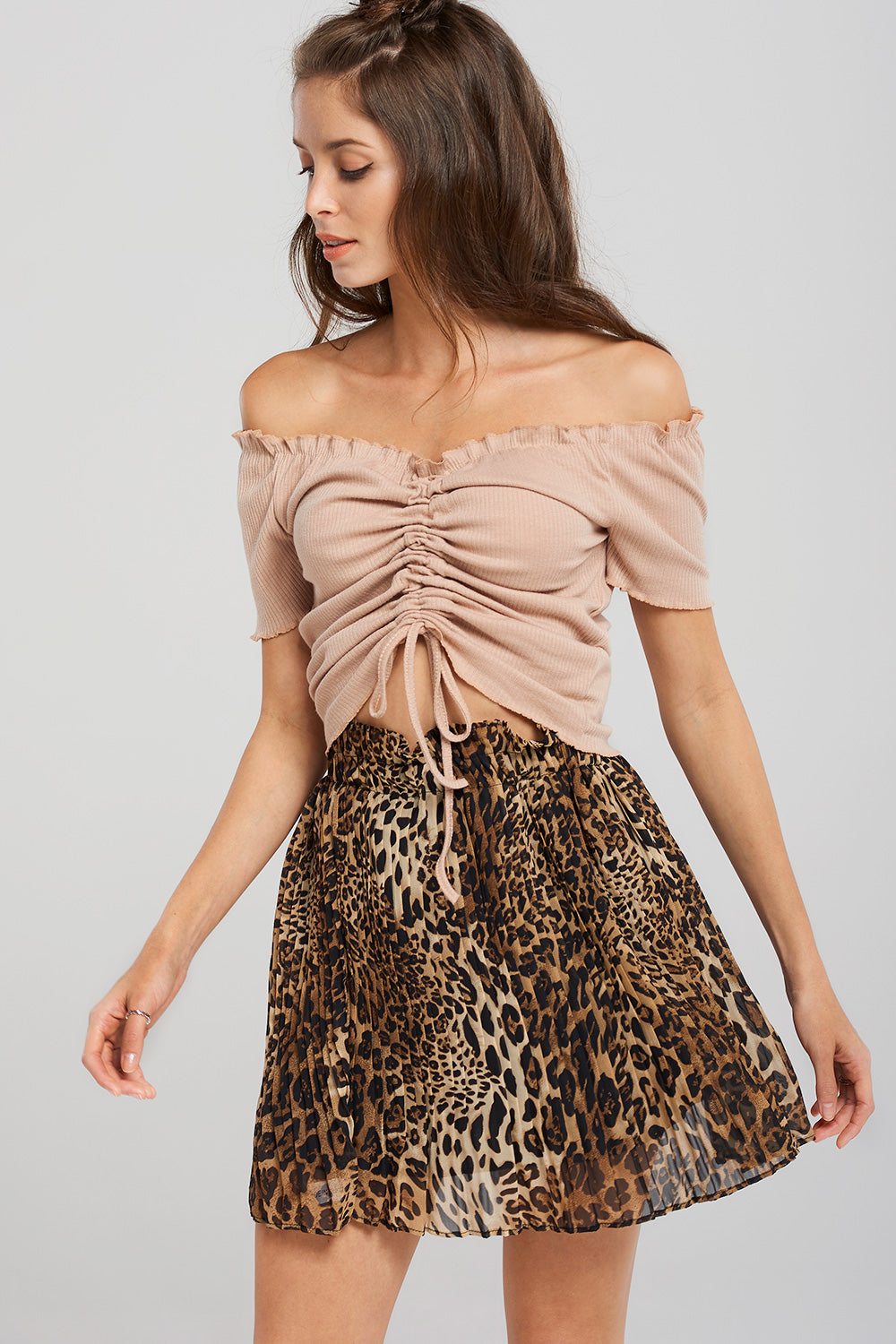 Anna Ruched Off Shoulder Top