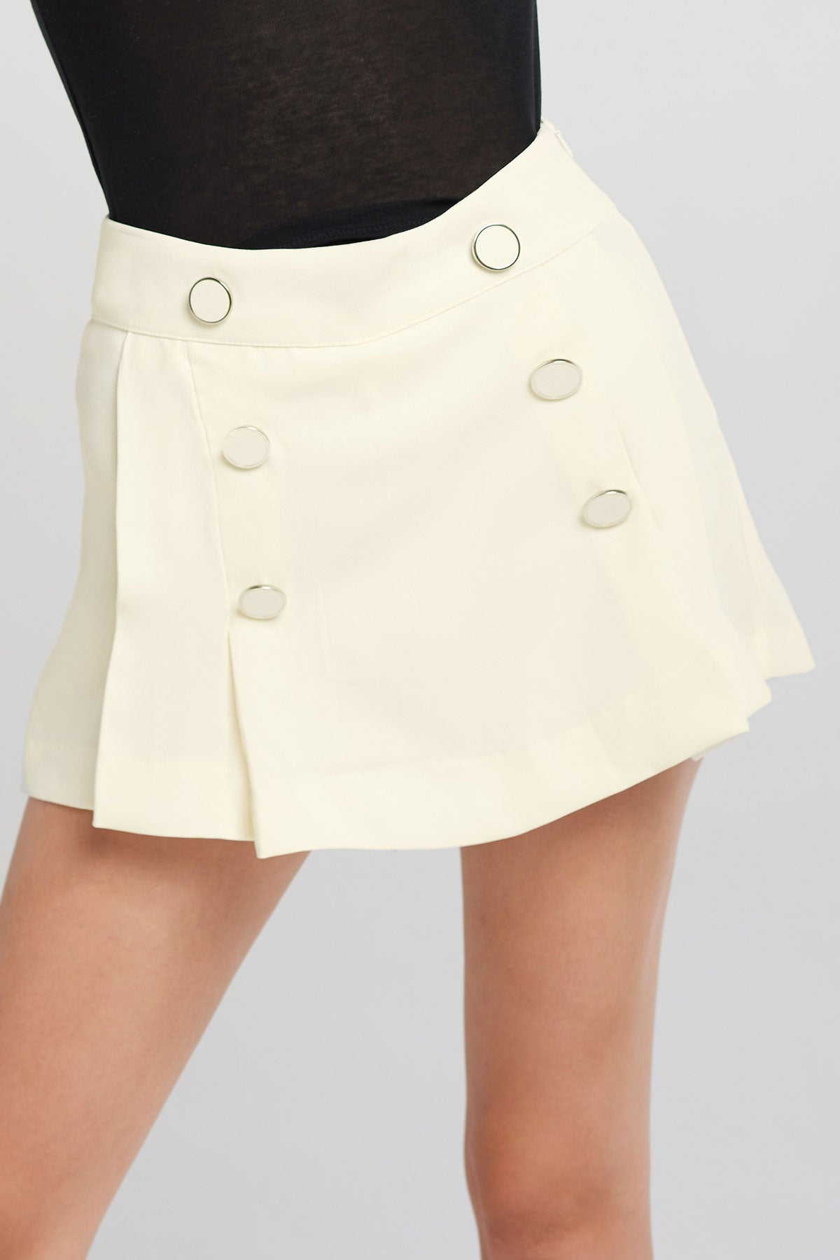 Ara Side Plaited Button Skort-2 Colors