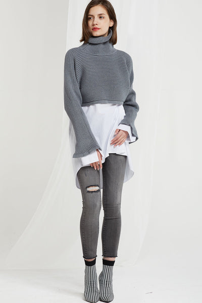 Arianna Turtleneck Crop Jumper