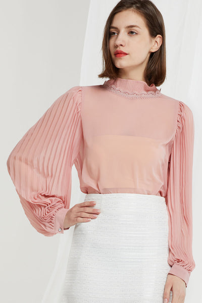 Aurelia Accordion Sleeve Blouse