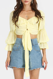 storets.com Anna Cropped Bustier Blouse