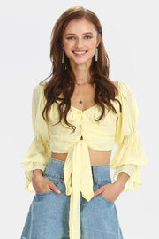 Anna Cropped Bustier Blouse