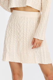 storets.com Claire Cable-Knit Mini Skirt