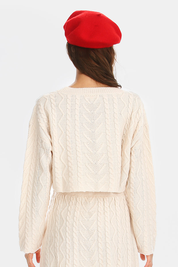 storets.com Claire Cable-Knit Cropped Sweater