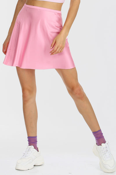 storets.com Maya Satin A-line Mini Skirt