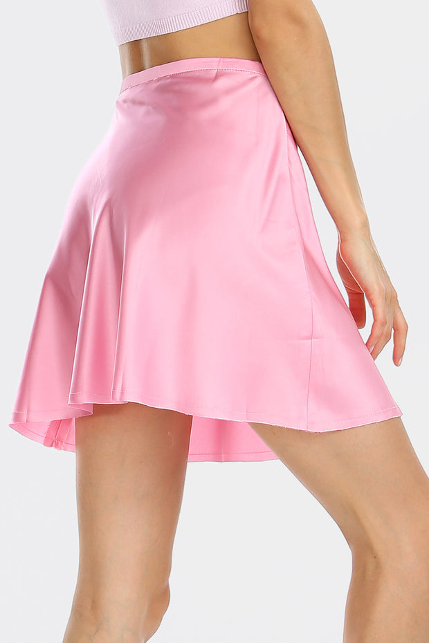 Maya Satin A-line Mini Skirt