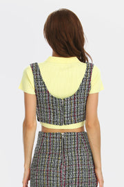 storets.com Stella Tweed Crop Top