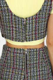 Stella Tweed Crop Top