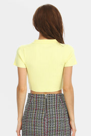storets.com Zoe V-Collar Crop Top