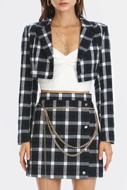Jade Plaid Check 2-Piece Set