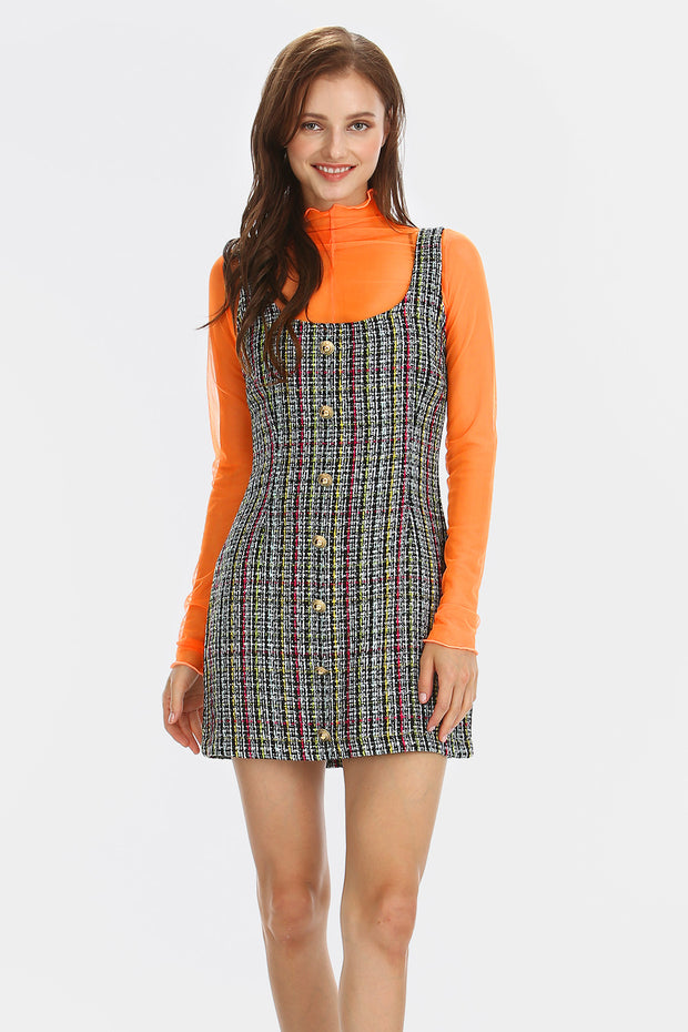Hailey Tweed Pinafore Dress
