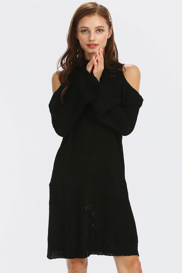 storets.com Serenity Cold-Shoulder Sweater Tunic