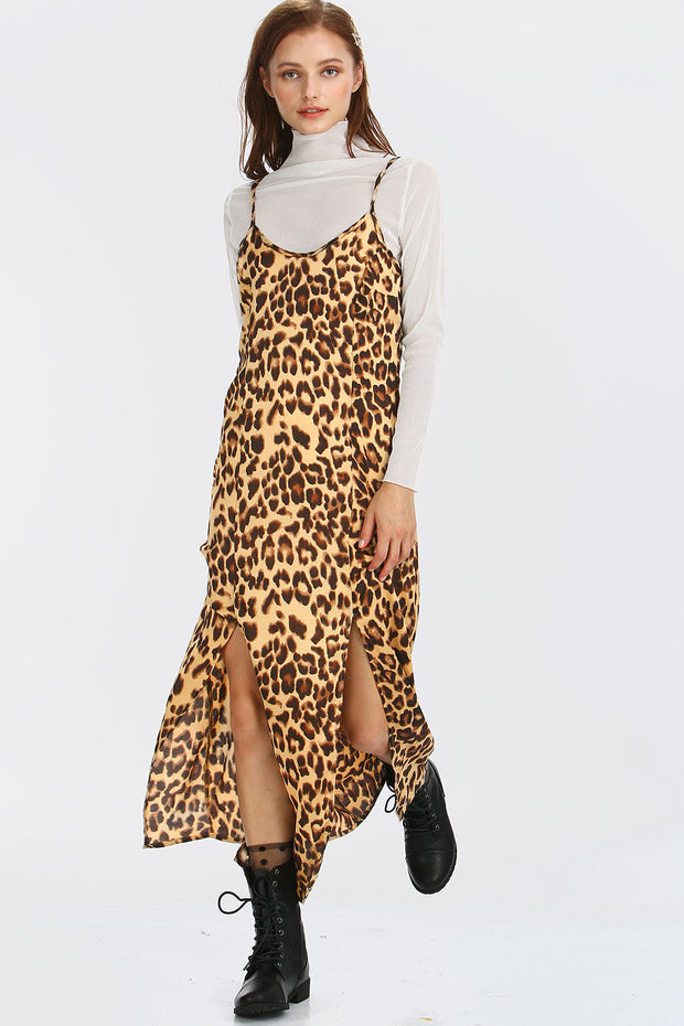 Ivy Leopard Slip Dress
