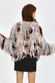 Remi Multi-Color Shaggy Knit Cardigan