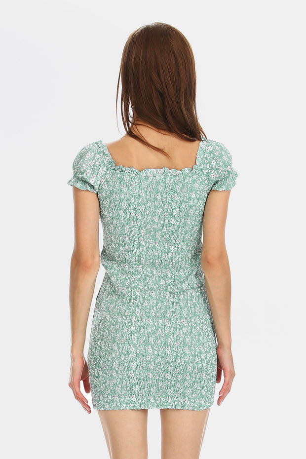 Julia Floral Smock Back Dress