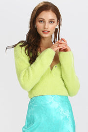 storets.com Bella Fuzzy Wrap Crop Top