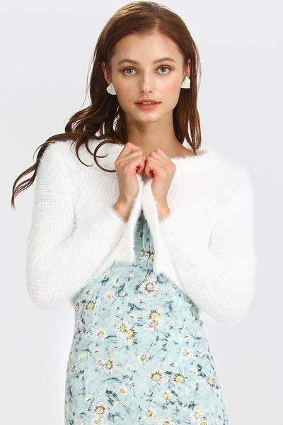 Trinity Fluffy Knit Cardigan