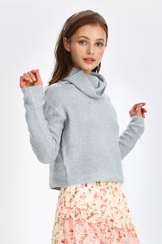 storets.com Sofia Knitted Turtle Neck Sweater Top