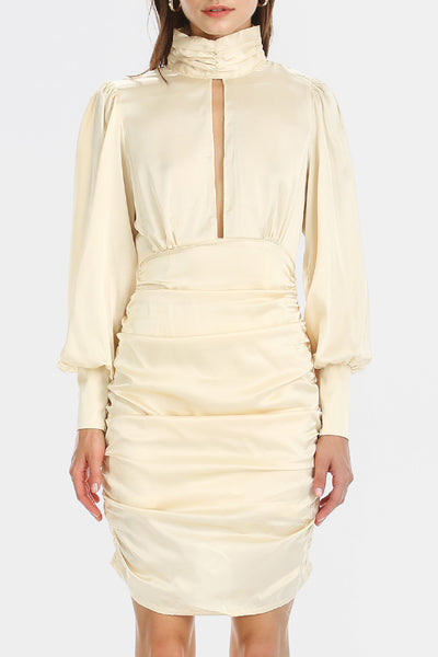 Quinn Cut-out Front Satin Dress