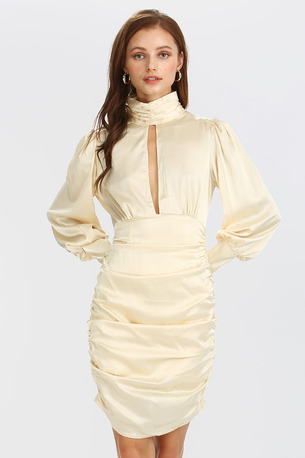 storets.com Quinn Cut-out Front Satin Dress