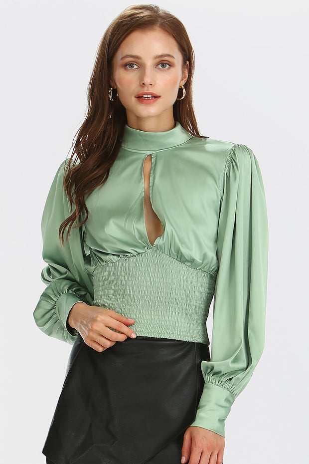 storets.com Lilly Tie Back Satin Blouse
