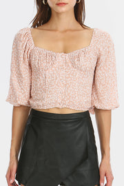 storets.com Bella Flower Printed Bustier Top